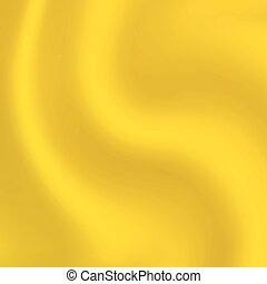 Yellow waves abstract background gold cloth vector