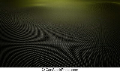 Yellow wavy surface made of balls - Abstract yellow wavy...