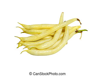 Yellow wax bean - Bundle of yellow wax beans isolated on...