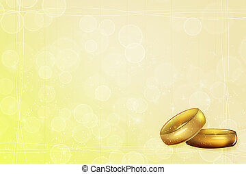 Yellow Wedding Background