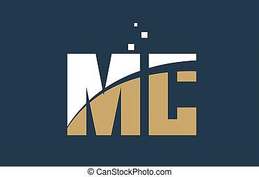 yellow white blue color alphabet letter combination MC M C...