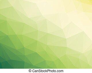 yellow white green bio background - abstract triangular...