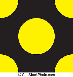 Yellow with black intersection sign
