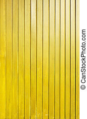 Yellow wood plank wall texture background
