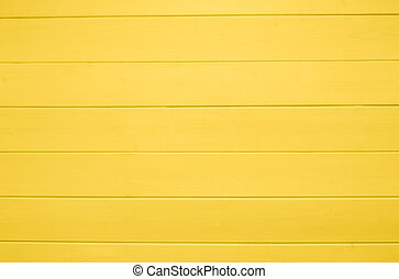Yellow wooden texture background. Copy space, text place. Wood finish material shop. Natural banner. Painted plank timber. Wall lining. Rustic mockup. Indoor interior. Horizontal lines. Pantone color