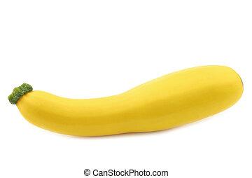 yellow zucchini ( Cucurbita pepo) on a white background
