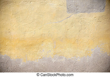 Yellowed facade