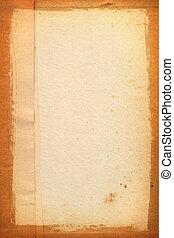 yellowed, listek papieru