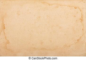yellowed, papper, struktur