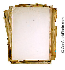 vintage sheets of newspaper - yellowed vintage sheets of...