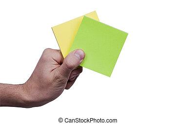 Yellow&Green memo paper