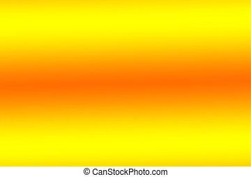yellow&&orange, résumé, brouillé, lumières, conception, fond