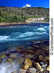 yellowstone ποταμός , καταρράκτης , wyoming