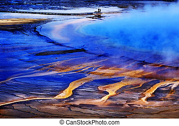 Yellowstone Grand Prismatic Spring Geothermal Water -...