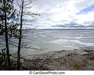 Yellowstone Lake - In the Yellowstone National Park.