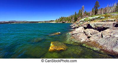 Yellowstone Lake in Wyoming