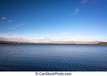 Yellowstone Lake Landscape - Landscape view of Yellowstone ...