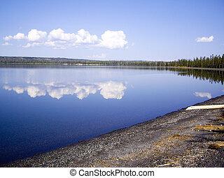 Yellowstone Lake Reflections - Reflections on Yellowstone ...