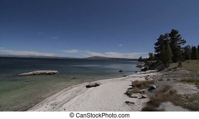 Yellowstone Lake, Yellowstone National Park, United States -...
