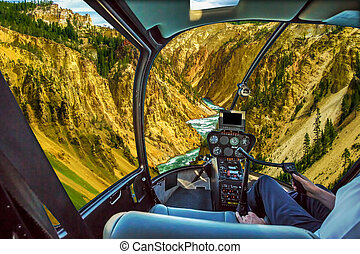 Yellowstone Lower Falls Helicopter