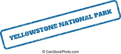 Yellowstone National Park Rubber Stamp - Blue rubber seal...