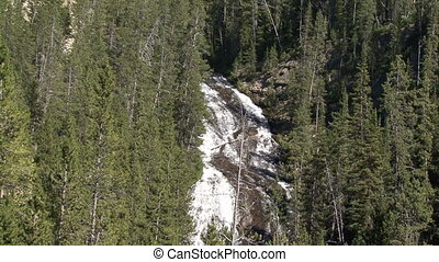 Yellowstone National Park.  Waterfalls