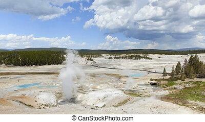 yellowstone nationalpark, zeit- versehen