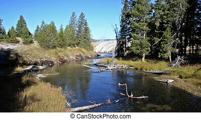 Yellowstone River Landscape - Yellowstone River landscape in...