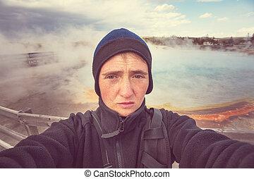 yellowstone, turista