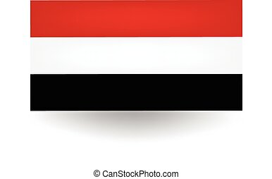 Yemen Flag - Official flag of Yemen.