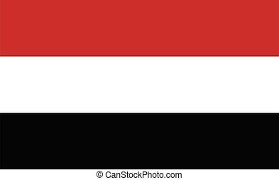 Yemen  flag. Simple vector Yemen flag