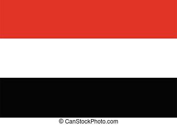 Yemen flag vector National flag of Yemen