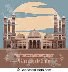 Yemen infographics, statistical data, sights. Vector...