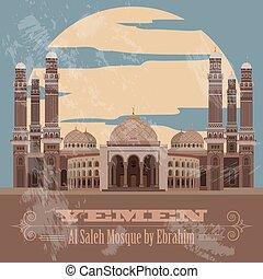 Yemen infographics, statistical data, sights. Vector illustration