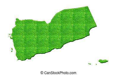 Yemen Map 3D illustration isolated background