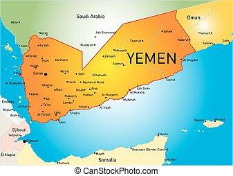 Map sanaa yemen Map of sanaa a province of yemen vectors