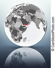 Yemen on globe