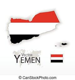 Yemen ( Republic of Yemen ) ( flag and map ) (...