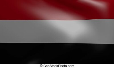 yemen strong wind flag