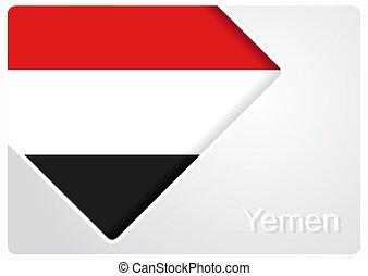Yemeni flag design background. Vector illustration. - Yemeni...