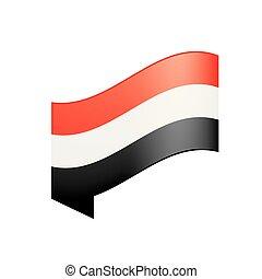 Yemeni flag, vector illustration on a white background