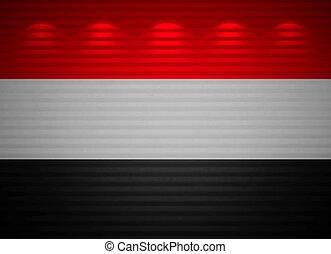 Yemeni flag wall, abstract background