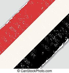 Yemeni grunge flag. Vector illustration. - Yemeni grunge ...