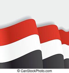 Yemeni waving Flag. Vector illustration. - Yemeni waving ...