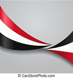 Yemeni wavy flag. Vector illustration. - Yemeni flag wavy ...