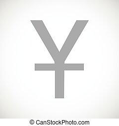 Yen black icon