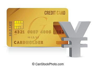 yen credit card concept