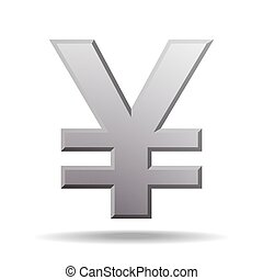 yen currency symbol isolated on white. Vector illustration