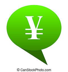 yen green bubble icon