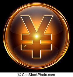 Yen icon golden.